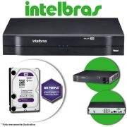 DVR Stand Alone Multi HD Intelbras MHDX-1004 4 Canais + HD 2TB WD Purple de CFTV