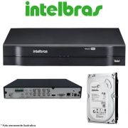 DVR Stand Alone Multi HD Intelbras MHDX-1016 16 Canais + HD 500GB Pipeline de CFTV