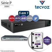DVR Tecvoz TW P3016 16 Ch 1080P Flex 5x1 + HD WD 2TB Purple