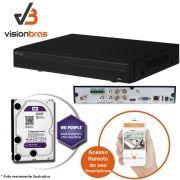 DVR UltraHD Visionbras XVR 4104 4 Canais 720P + HD 1TB WD Purple de CFTV