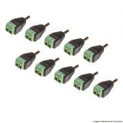 Kit 10 Conectores Plug P4 Macho com Borne