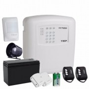 Kit Alarme Residencial Comercial Sem FIo Alard Max 4 Zonas Ecp
