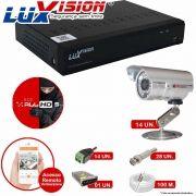 Kit Cftv 14 Câmeras CCD Infravermelho 3,6MM 1200L Dvr 16 Canais Luxvision + ACESSORIOS