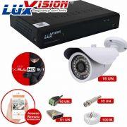 Kit Cftv 16 Câmeras AHD Bullet 720p Dvr 16 Canais Luxvision 5 em 1 + ACESSORIOS