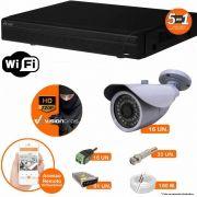 Kit Cftv 16 Câmeras AHD-M 7007 1.3MP 720P 3,6MM Dvr 16 Canais Visionbras XVR 720p + ACESSORIOS