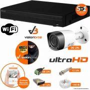 Kit Cftv 6 Câmeras Visionbras 2MP 1080p 3,6MM Dvr 8 Canais Visionbras XVR 1080p + ACESSORIOS