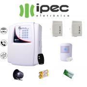 Kit de Alarme Genius Al 4 Residencial IPEC Com 2 Sensores Magnéticos 1 Sensor Infravermelho Sem Fio