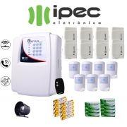 Kit de Alarme Genius Al 4 Residencial IPEC Com 8 Sensores Magnéticos 7 Sensor Infravermelho Sem Fio
