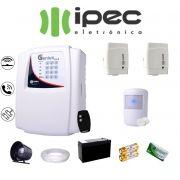 Kit de Alarme Genius Residencial IPEC 2 Sensores Magnético 1 Sensor Infravermelho S/ FIo Completo