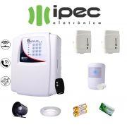Kit de Alarme Genius Residencial IPEC Com 2 Sensores Magnético 1 Sensor Infravermelho S/ Fio C/Cabo