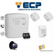 Kit de Alarme Max 4 Residencial Ecp Com 2 Sensores Magnético 1 Sensor Infravermelho S/ Fio