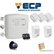 Kit de Alarme Max 4 Residencial Ecp Com 3 Sensores Magnético 2 Sensores Infravermelho S/ Fio