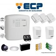 Kit de Alarme Max 4 Residencial Ecp Com 3 Sensores Magnético 2 Sensores Infravermelho Sem Fio Completo