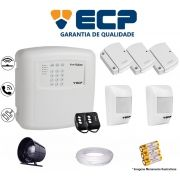 Kit de Alarme Max 4 Residencial Ecp Com 3 Sensores Magnético 2 Sensores Infravermelho S/ Fio C/ Cabo