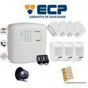 Kit de Alarme Max 4 Residencial Ecp Com 4 Sensores Magnético 3 Sensores Infravermelho S/ Fio