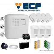 Kit de Alarme Max 4 Residencial Ecp Com 4 Sensores Magnético 3 Sensores Infravermelho Sem Fio Completo