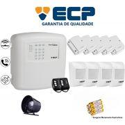 Kit de Alarme Max 4 Residencial Ecp Com 5 Sensores Magnético 4 Sensores Infravermelho S/ Fio