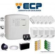 Kit de Alarme Max 4 Residencial Ecp Com 5 Sensores Magnético 4 Sensores Infravermelho Sem Fio Completo