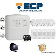 Kit de Alarme Max 4 Residencial Ecp Com 6 Sensores Magnético 5 Sensores Infravermelho S/ Fio