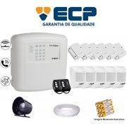 Kit de Alarme Max 4 Residencial Ecp Com 6 Sensores Magnético 5 Sensores Infravermelho S/ Fio C/ Cabo