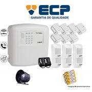 Kit de Alarme Max 4 Residencial Ecp Com 7 Sensores Magnético 6 Sensores Infravermelho S/ Fio
