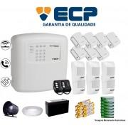 Kit de Alarme Max 4 Residencial Ecp Com 7 Sensores Magnético 6 Sensores Infravermelho Sem Fio Completo