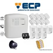 Kit de Alarme Max 4 Residencial Ecp Com 8 Sensores Magnético 7 Sensores Infravermelho S/ Fio