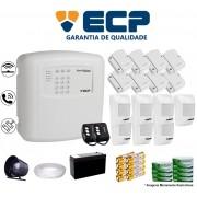 Kit de Alarme Max 4 Residencial Ecp Com 8 Sensores Magnético 7 Sensores Infravermelho Sem Fio Completo