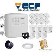 Kit de Alarme Max 4 Residencial Ecp Com 8 Sensores Magnético 7 Sensores Infravermelho S/ Fio C/ Cabo