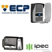 Kit Porteiro Eletrônico ECP Intervox Cinza + Fechadura IPEC F90