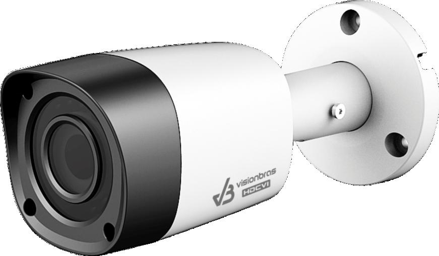 Câmera Bullet Infravermelho Ultra HD 4 em 1 Visionbras HFW1200RN 2Mp HD 1080P 3,6MM
