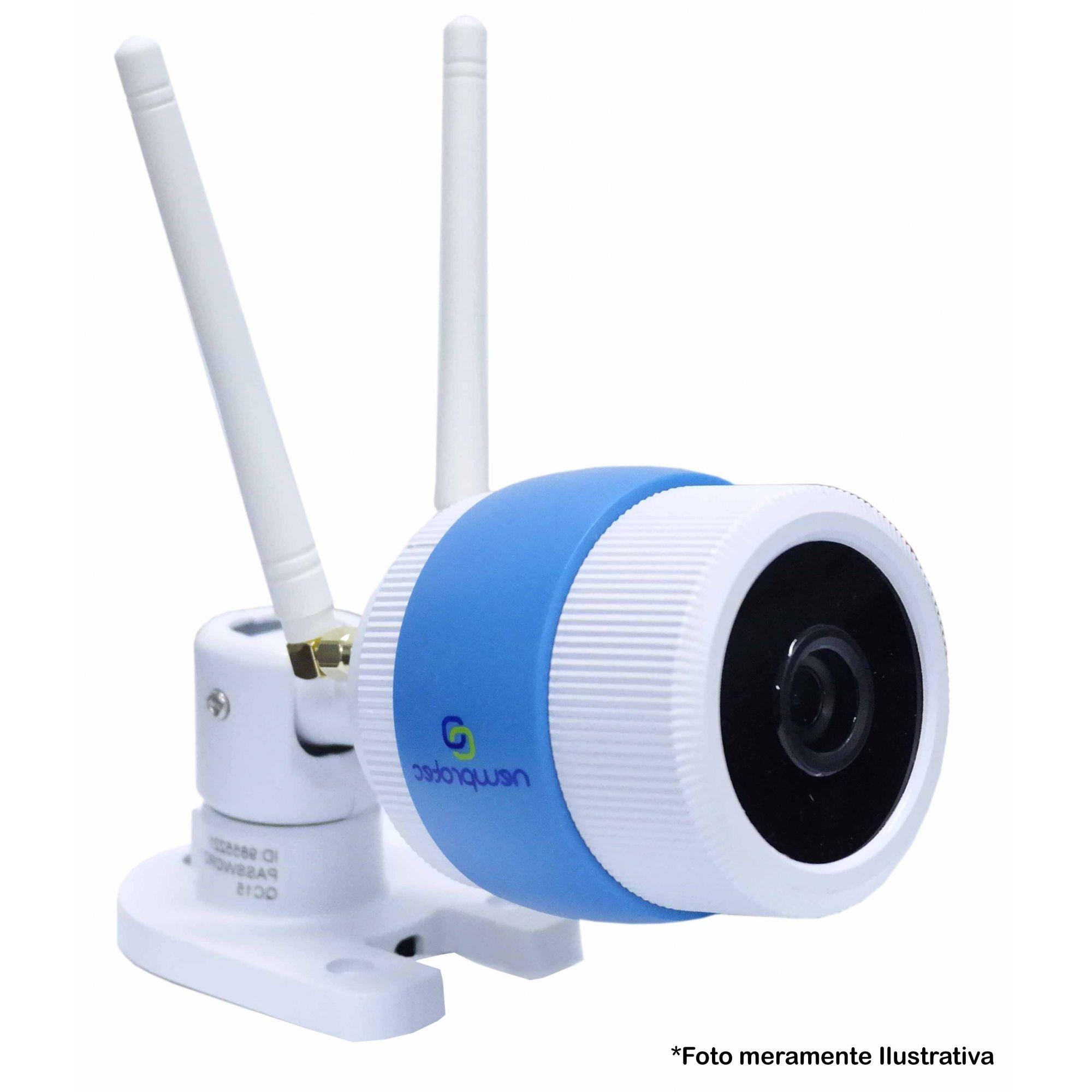 Câmera de Segurança IP Onvif Bullet Sem Fio Wifi Full HD 1080p, Grava em Cartão SD,  Uso Externo