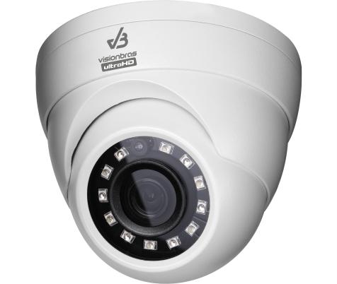 Camera Dome Metal Infravermelho Ultra HD VisionBras  720p HD  2,8MM 1.0MP 20M