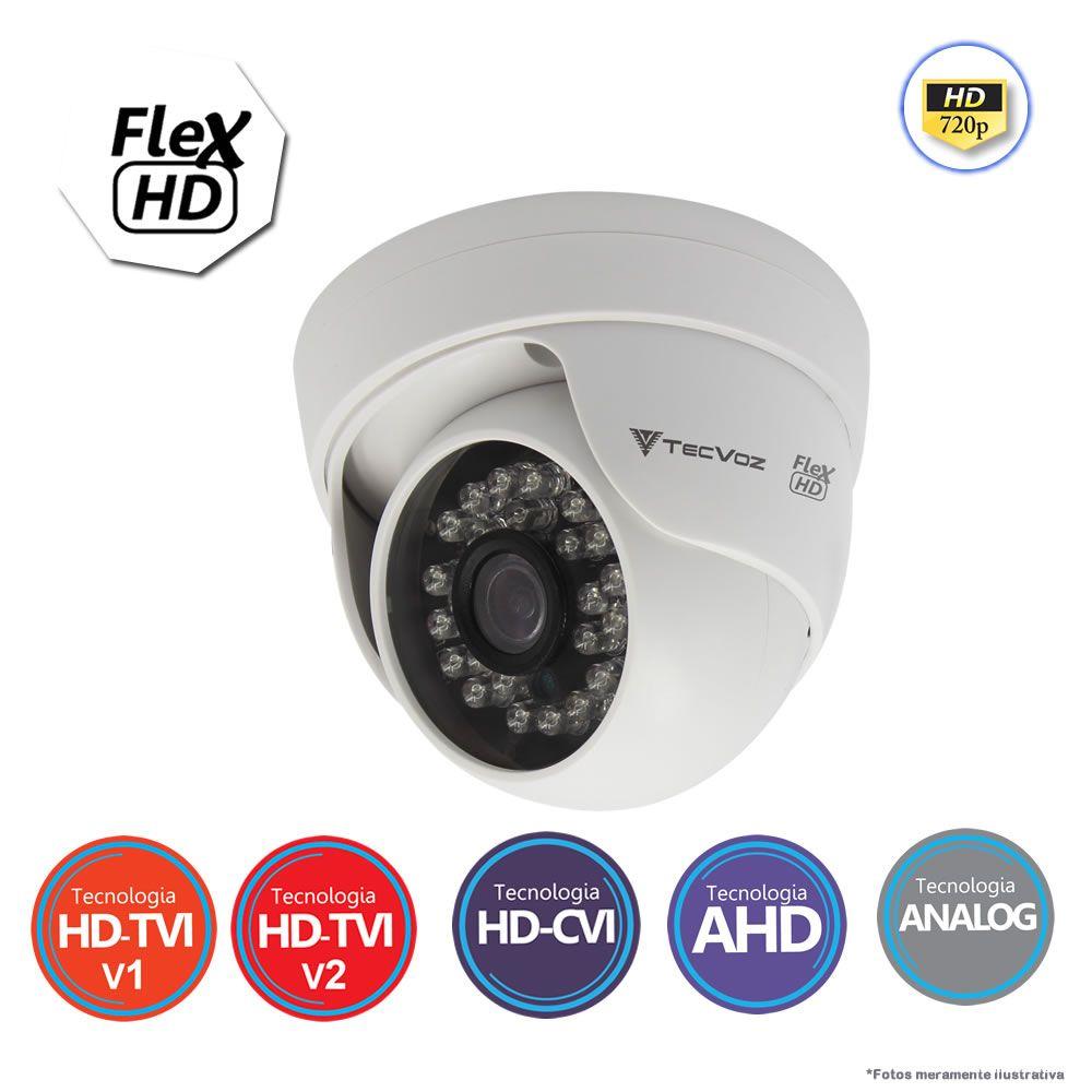 Câmera Dome Infravermelo Flex 5 em 1 Tecvoz CDM-128P HD 720p 1.0M