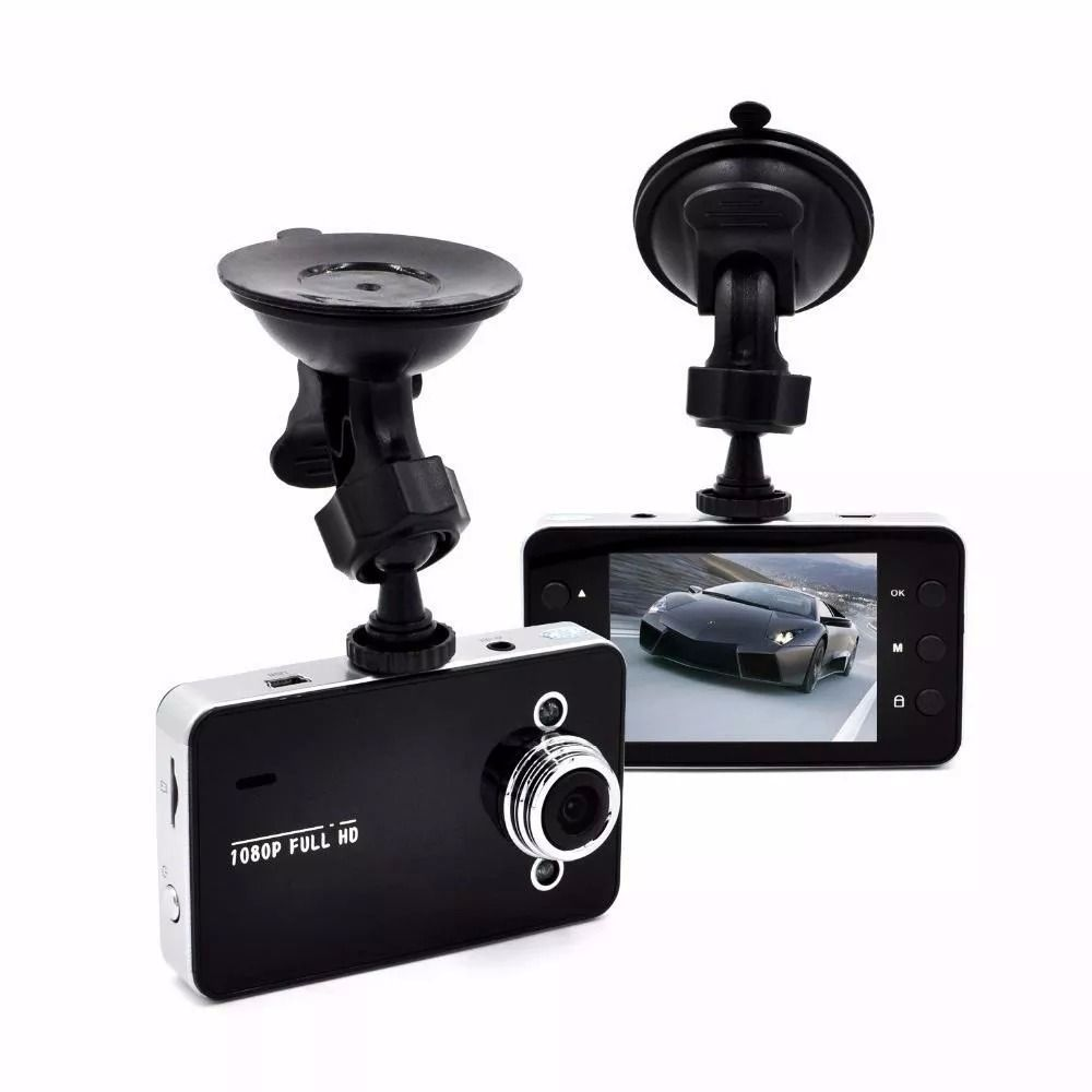Câmera DVR Veicular Filmadora Automotiva 720P, Tela 2,4