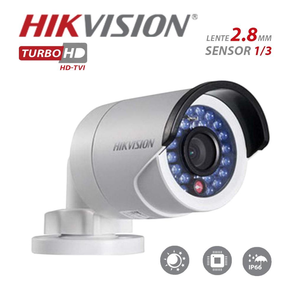 Câmera Bullet Infravermelho Hibrida HIKVISION 2CE160T- IRP 1MP 2,8MM 720P IP 66