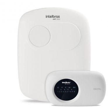 Central de Alarme Intelbras AMT 2110, Alarme monitorado com 10 zonas (4 + 4 + 2 com fio + 16 sem fio), Via linha telefônica, 2 Partições, Discadora