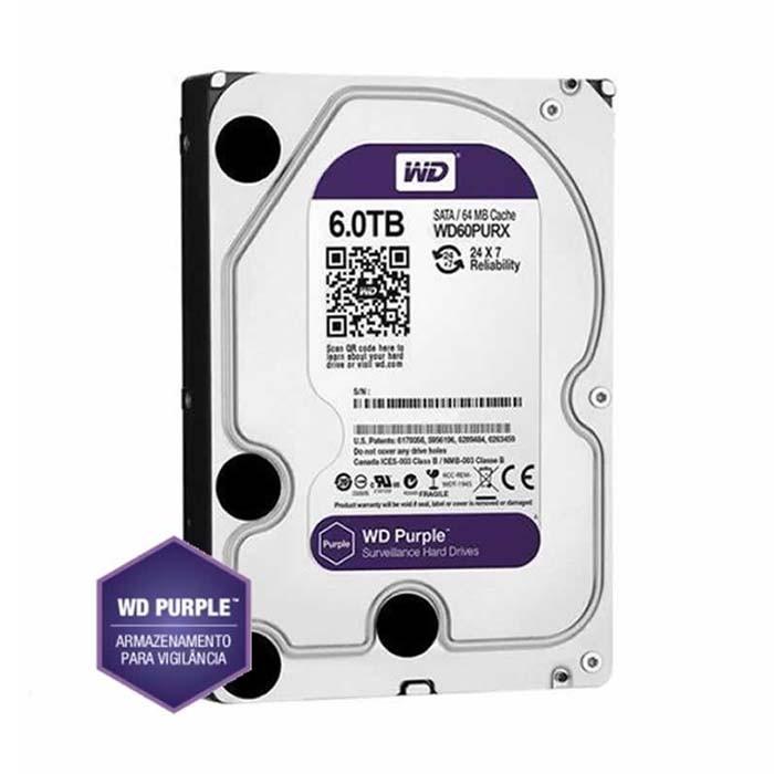Hd Sata 3 6 TB Western Digital Purple WD60PURX