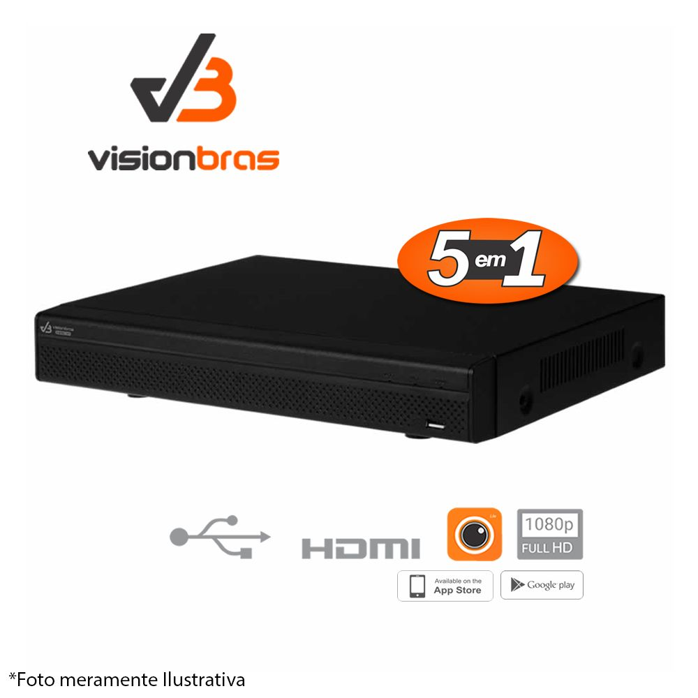 DVR Stand Alone VISIONBRAS HCVR 5116 16 Canais 1080N HDCVI, Análogico, Entrada de vídeo IP
