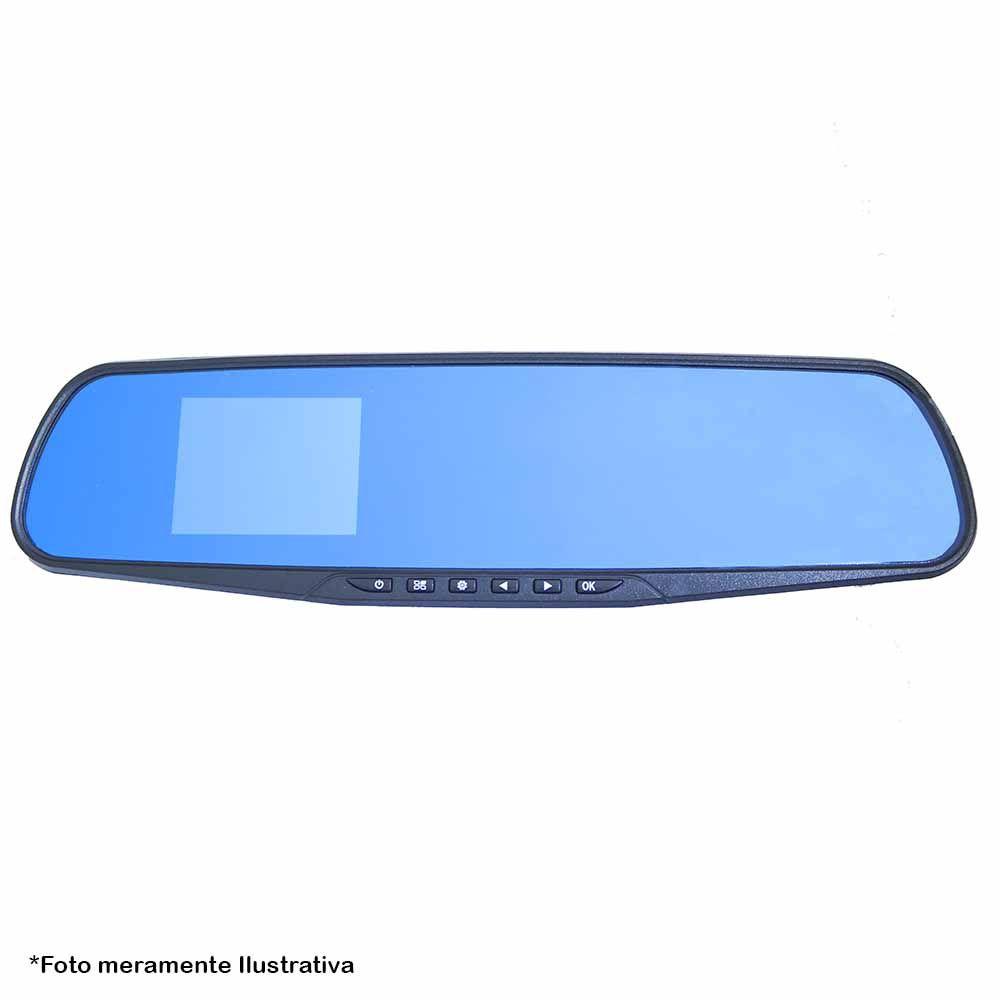 Espelho Retrovisor LCD com Câmera e DVR Veicular, filmadora Full HD 1080P, Grava Cartão de Memória