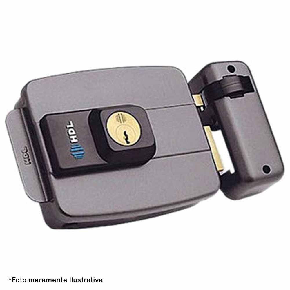 Fechadura Eletrônica HDL C-90 Dupla Cinza, Possue Ajuste para Portas Leves e Pesadas