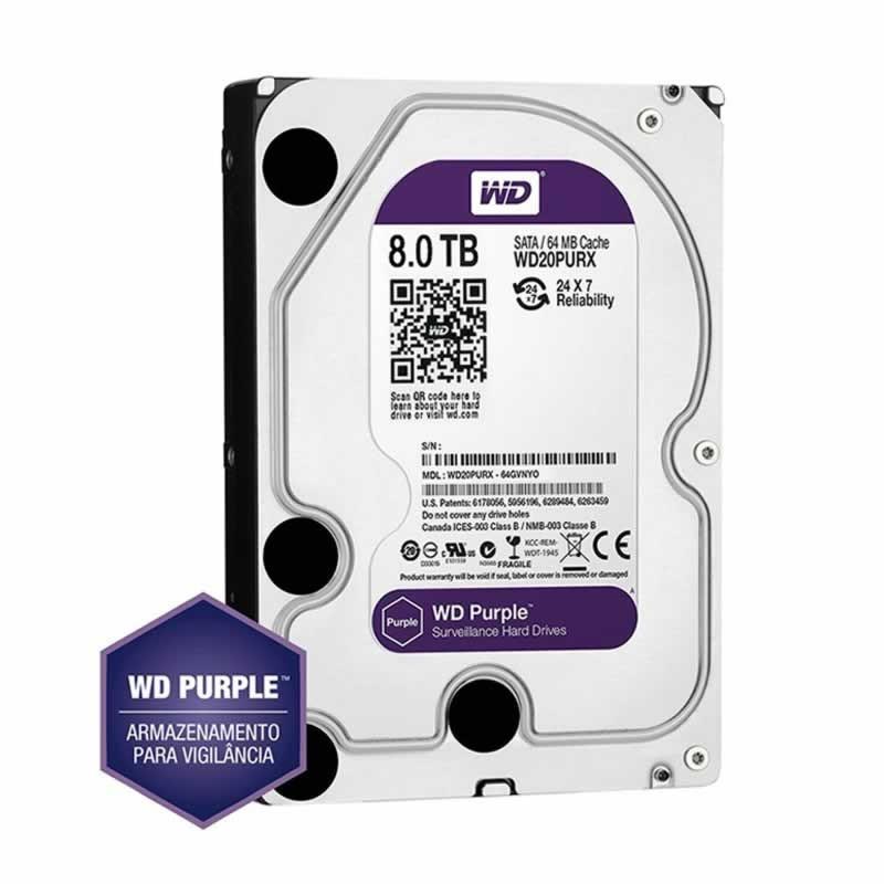 Hd Sata 3 8 TB Western Digital Purple WD80PURX
