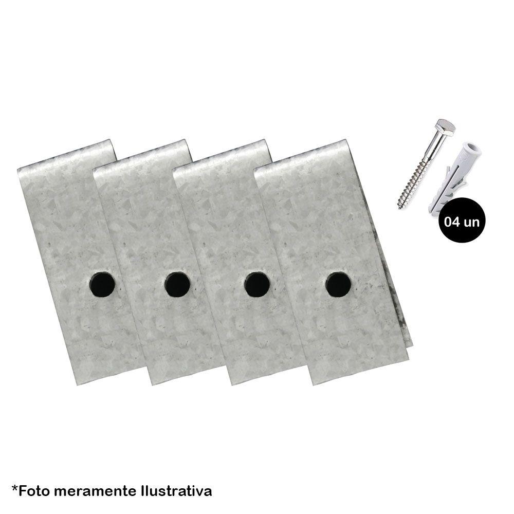 Kit Abraçadeira de Aço 4 peças com Parafuso