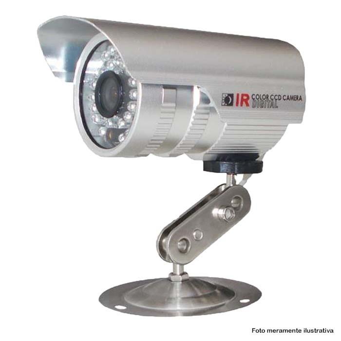 KIT CFTV 1 Câmera CCD Infravermelho 1200 TVL 3,6MM + Cabo Coaxial e Fonte
