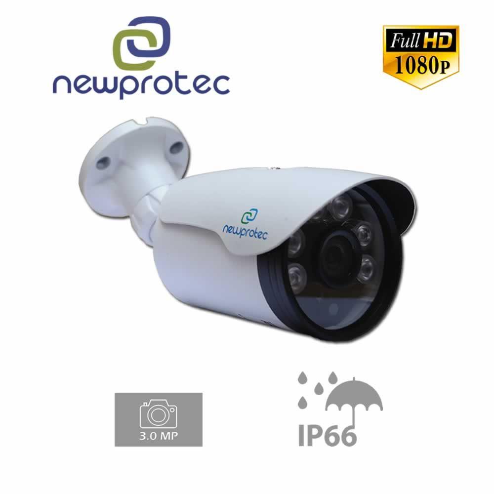 Kit Cftv 6 Câmeras 1080p IR BULLET NP 1004 Dvr 8 Canais Newprotec 5 em 1 + HD 320GB