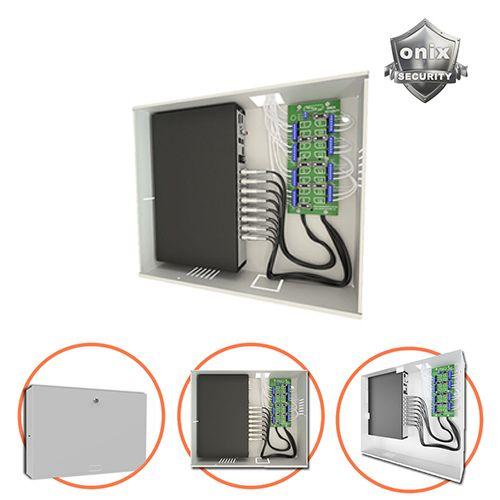 Rack Mini Orion HD 3000 04 Canais Organizador de Cabos Onix Segurity Para DVR