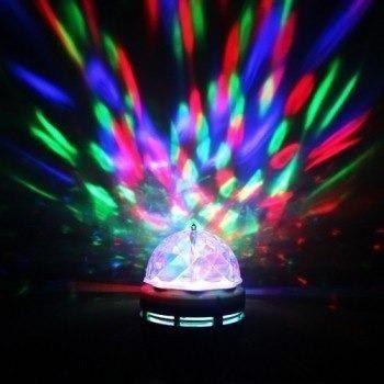 Lampada Led Rotativa FULL Color, Giratória Bola Maluca para Festas