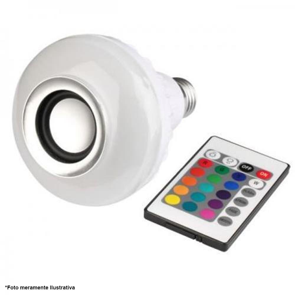 Lâmpada Musical Bulb WJ-L2T Bluetooth Musical Caixa Som, E27 Bivolt