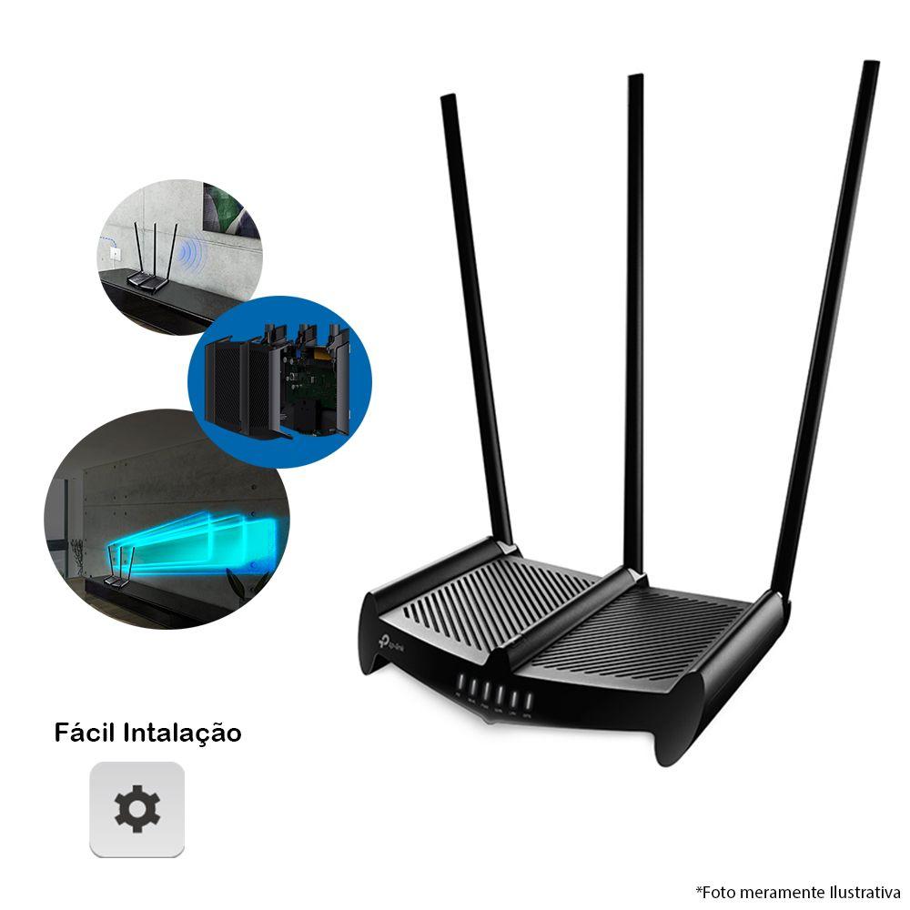 Roteador Wireless N 450Mbps High Power TL-WR941HP, Alcance de 900m², 3 Antenas, VoIP, 8dBi, Wifi que Atravessa Paredes