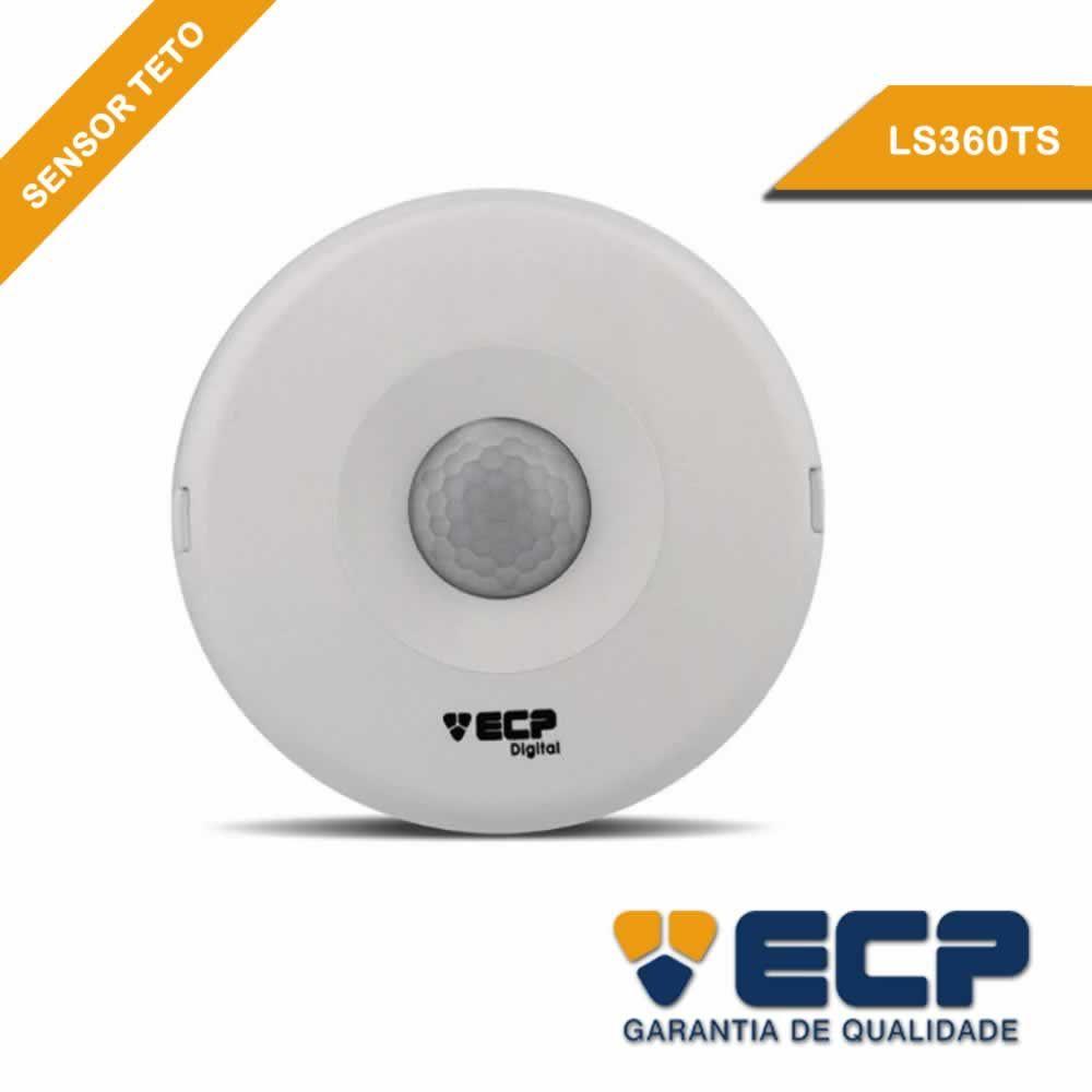 Sensor de Presença ECP Iluminação Acende e Apaga Automatico Sobrepor no Teto